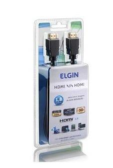 Cabo HDMI Preto 1.80M 1080P Full HD Elgin