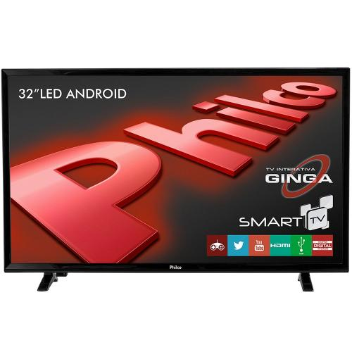 Smart TV 32 HD Philco PTV32E20DSGWA com Android - Bivolt