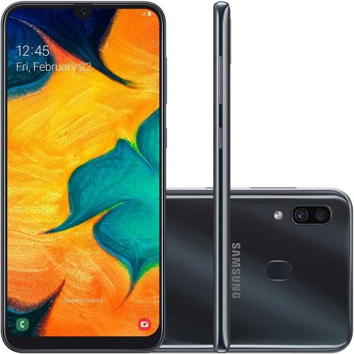 "Smartphone Samsung Galaxy A30 6.4"" 16/16MP 64GB Preto"