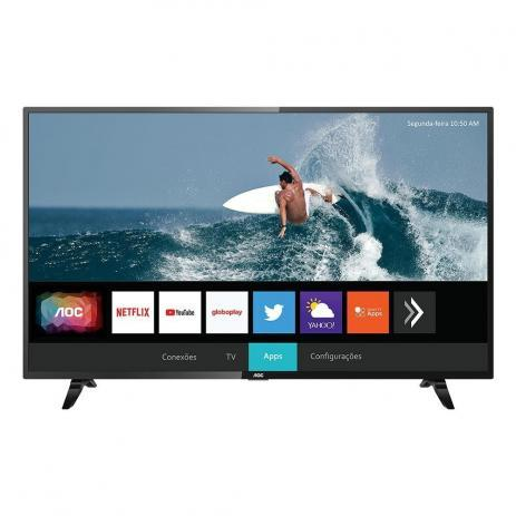 "Smart TV 43"" LED FHD 43S5295 Wi-Fi HDMI AOC"
